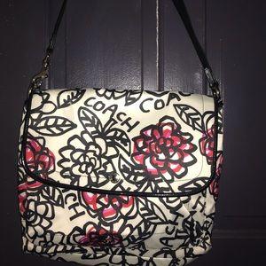 Coach graffiti poppy messenger bag